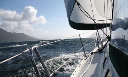 Under sail in good winds
