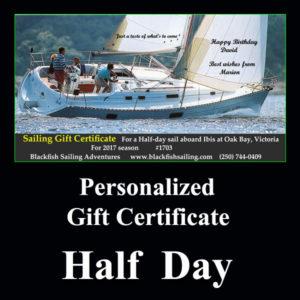 Half day gift cert